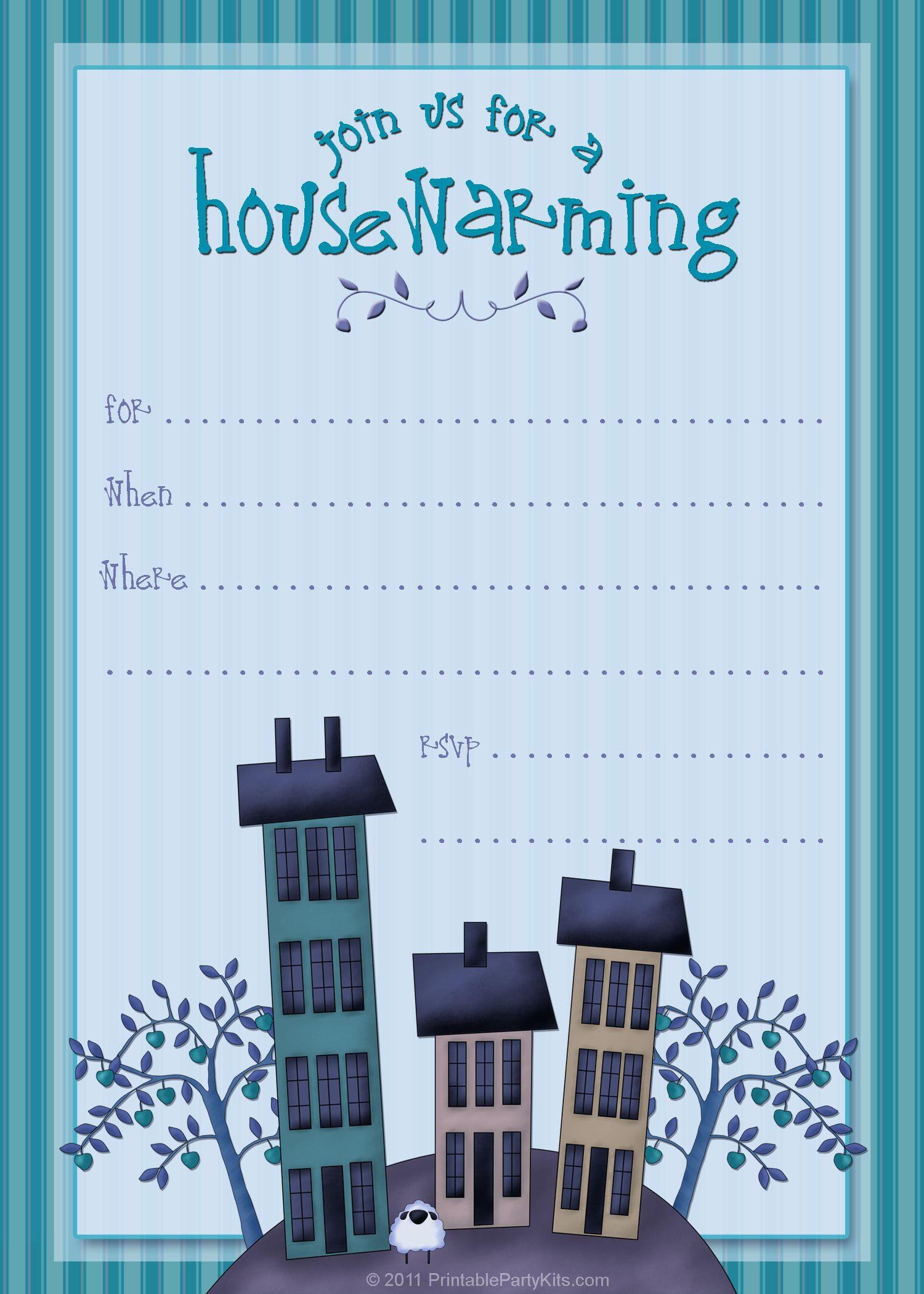 Housewarming Invite Template | Tanveer | Pinterest | Housewarming - Free Printable Housewarming Invitations Cards