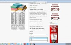 How To Buy Perforated Paper For Parlay Cards – Youtube – Free Printable Football Parlay Cards