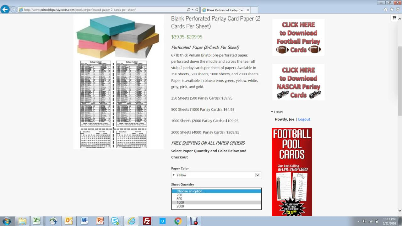 How To Buy Perforated Paper For Parlay Cards - Youtube - Free Printable Parlay Cards