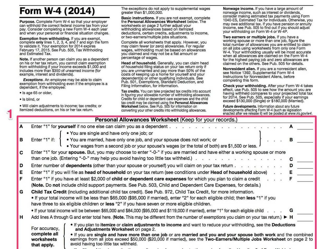 How To Fill Out A W-4 - Business Insider - Free Printable W 4 Form