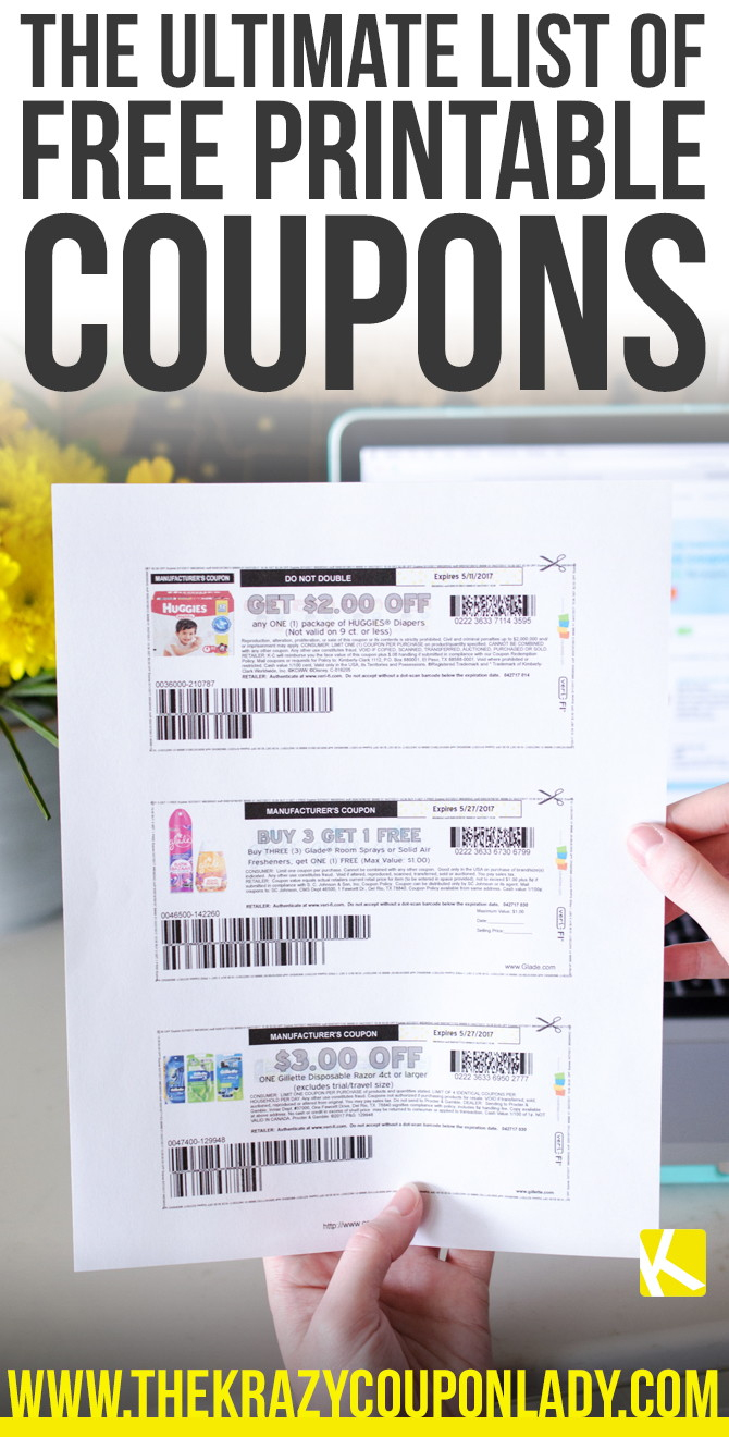 How To Find And Print Free Internet Coupons - The Krazy Coupon Lady - Free Printable Grocery Coupons