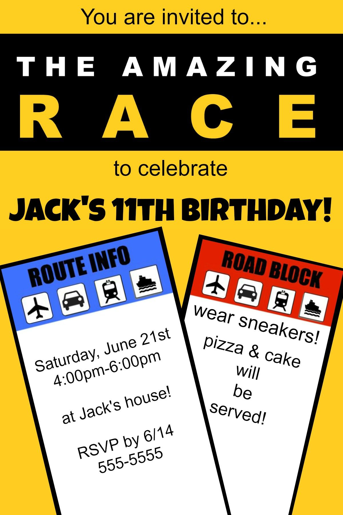 """How To Host An """"amazing Race"""" Birthday Party At Home! 