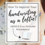 How To Improve Handwriting Skills For Adults That Are Left Handed   Free Printable Left Handed Worksheets