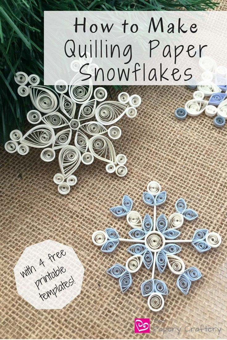 How To Make Quilling Paper Snowflakes | Paper | Pinterest | Quilling - Free Printable Quilling Patterns