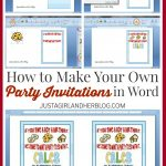 How To Make Your Own Party Invitations   Just A Girl And Her Blog   Play Date Invitations Free Printable