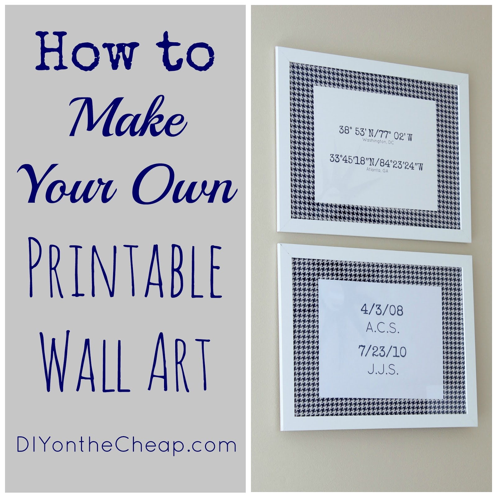 How To Make Your Own Printable Wall Art - Erin Spain - Free Printable Artwork