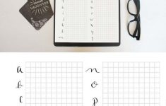 Modern Calligraphy Practice Sheets Printable Free