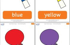 Free Printable Colour Flashcards