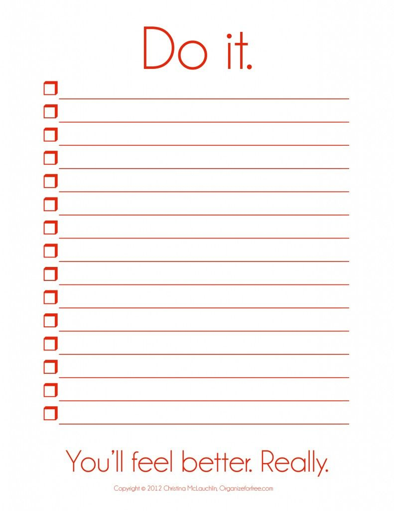 I So Need This! ~ Things To Do Template Pdf | Free Printable To Do - Free Printable To Do List Pdf