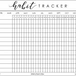 I Was Recently Helping My Boyfriend, Justin, Get His Bu … | Bujo   Habit Tracker Free Printable