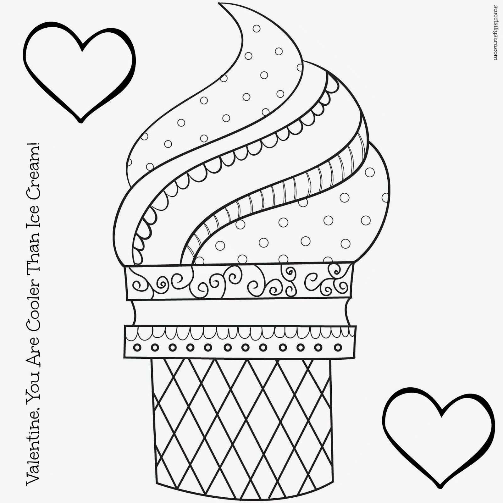 Ice Cream Coloring Pages For Kids | A Stitch In Time | Ice Cream - Ice Cream Color Pages Printable Free
