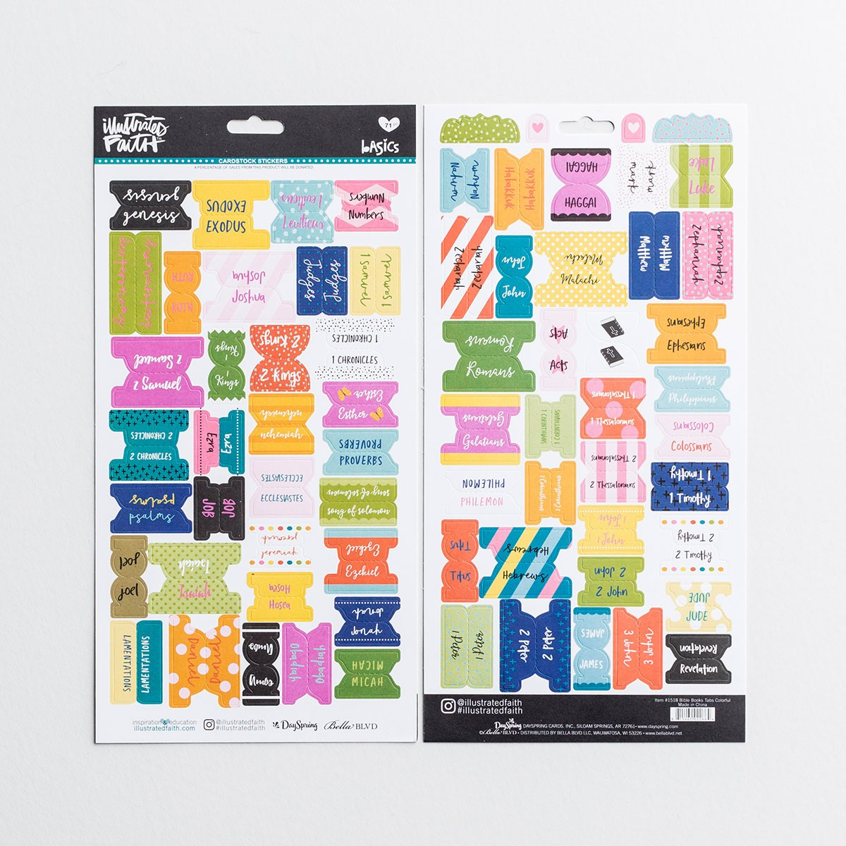 Illustrated Faith - Books Of The Bible Tabs, Colorful | Dayspring - Free Printable Books Of The Bible Tabs