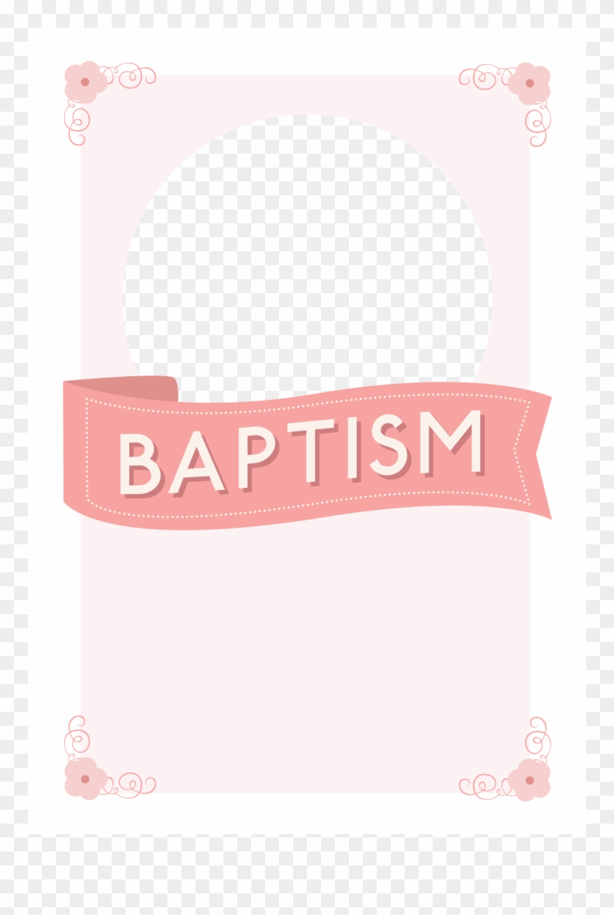 Image Free Pink Ribbon Free Printable - Baptism Invitation Pink - Free Printable Baptism Invitations
