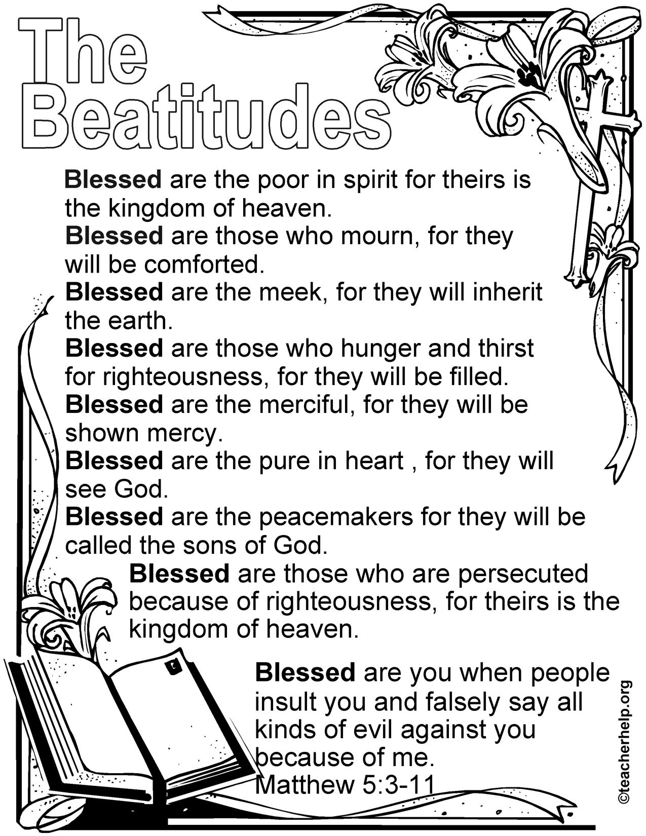 Image Result For Beatitudes For Kids Free Printable | Kids - Free Printable Bible Lessons For Toddlers