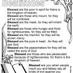Image Result For Beatitudes For Kids Free Printable | Kids   Free Printable Children's Church Curriculum