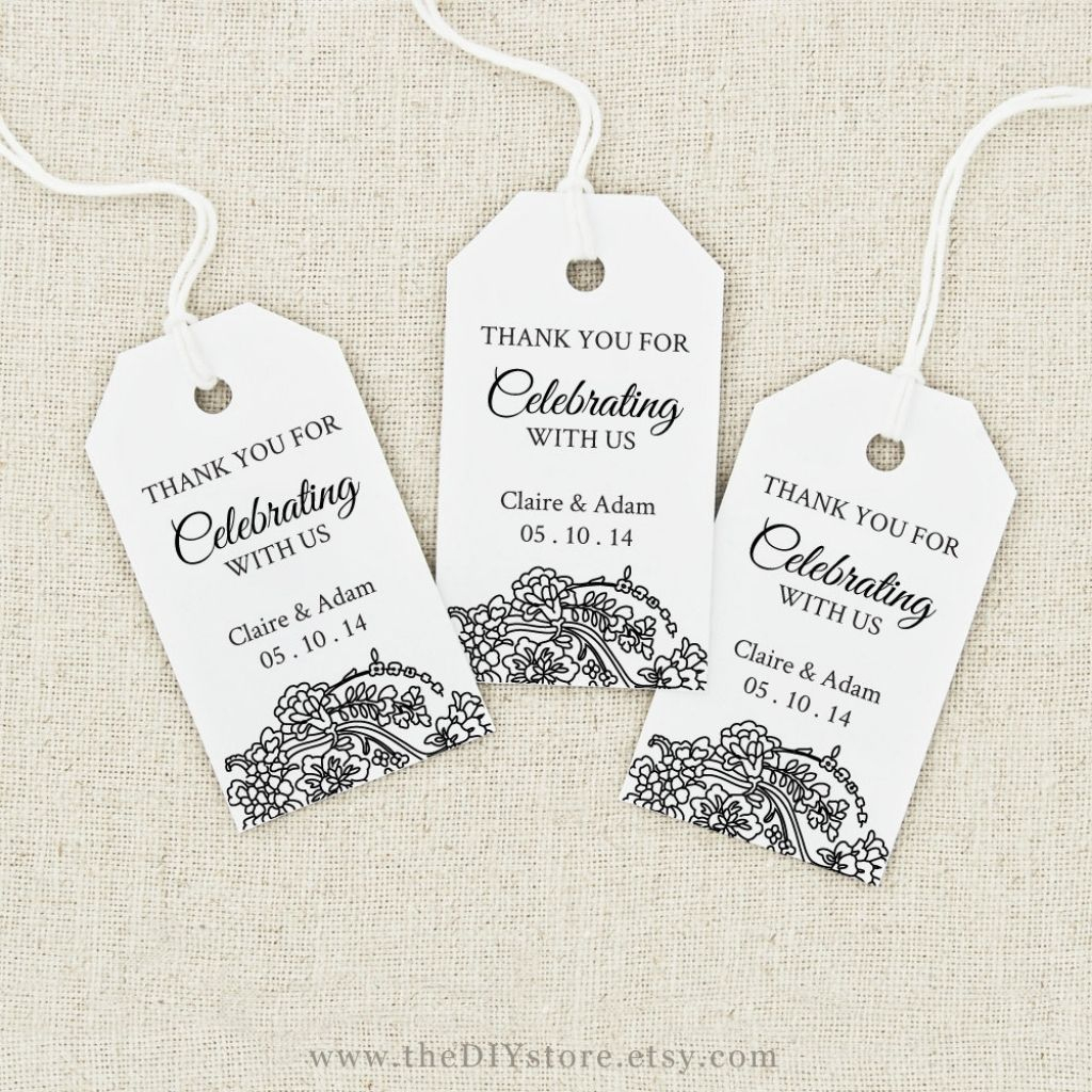 Image Result For Free Printable Wedding Favor Tags Template - Free Printable Wedding Thank You Tags