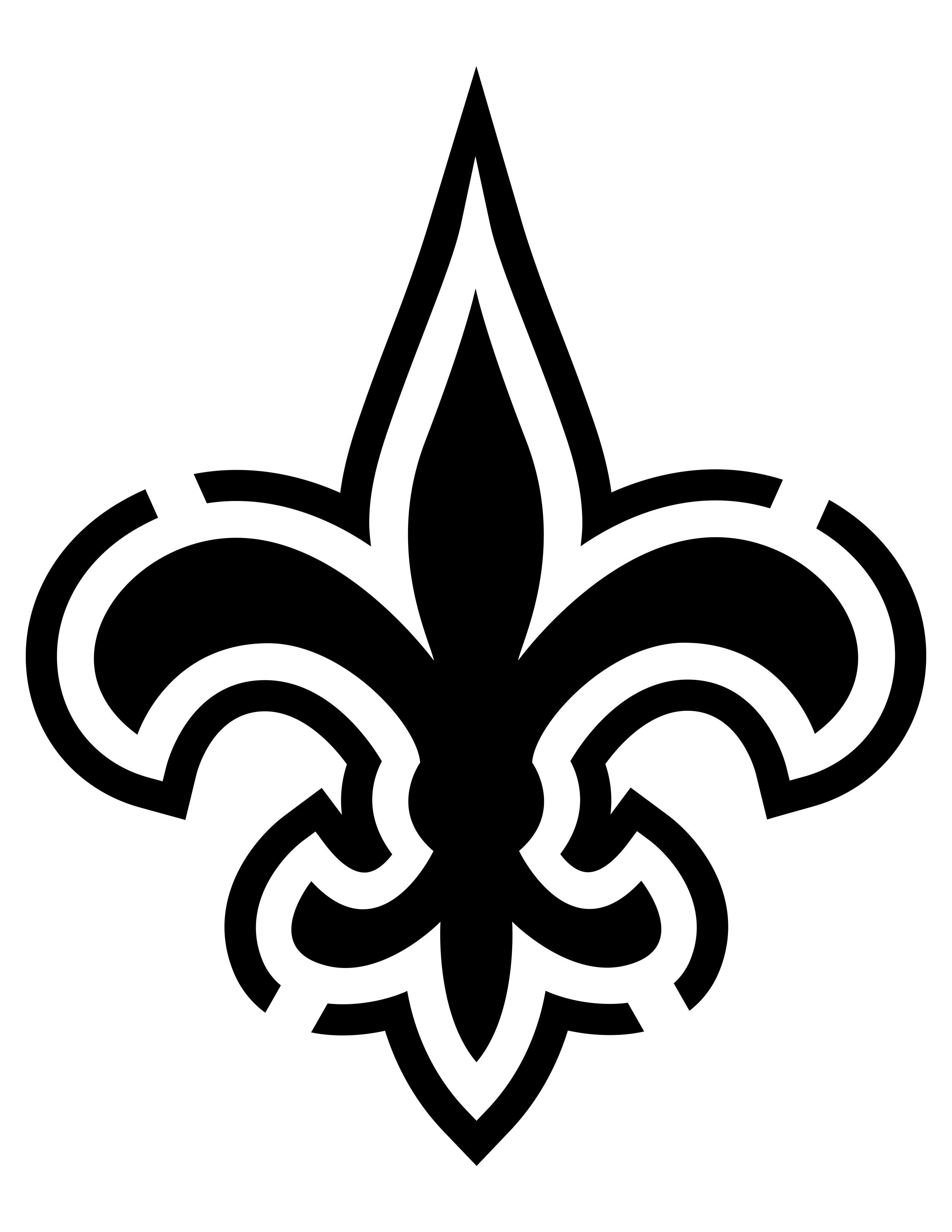 Image Result For New Orleans Saints Stencil | Scroll Saw Ideas - Printable Nfl Pumpkin Carving Patterns Free