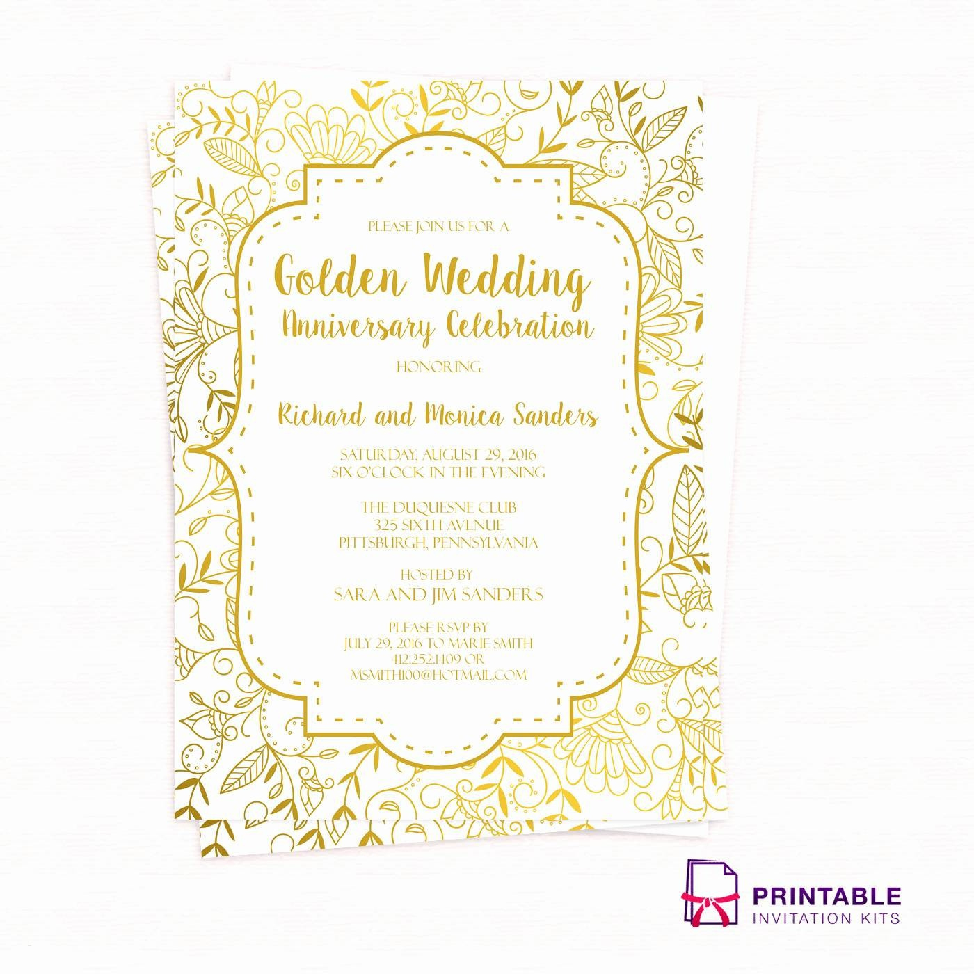 Inspirational Printable 40Th Wedding Anniversary Invitations - Free Printable 40Th Anniversary Invitations