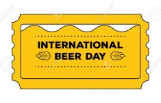 International Beer Day Concept As Admit One Ticket. Vector – Free Printable Beer Coupons
