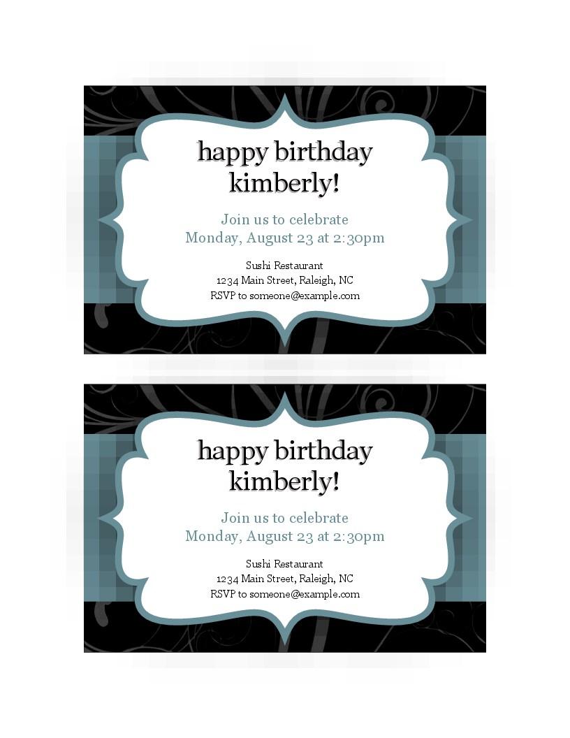 Invitations - Office - Free Printable Thanksgiving Dinner Invitation Templates