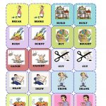 Irregular Verbs Memory Card Game( 1/3) Worksheet   Free Esl   Free Printable Memory Exercises