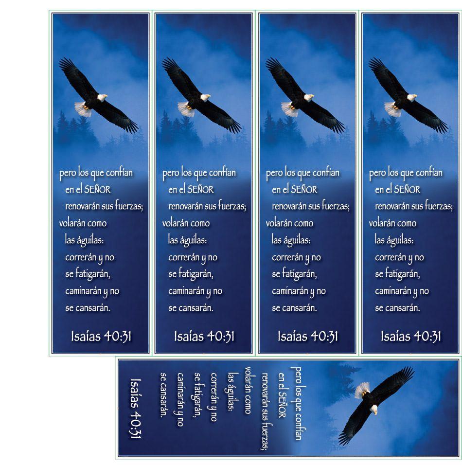 Isaias 40:31 — Varios De Los Cinco Para Facilidad De Impresión Y - Free Printable Bible Bookmarks Templates