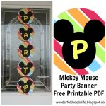 It's My Wonderful Chaotic Life: Mickey Mouse Birthday Party Free   Free Printable Mickey Mouse Decorations