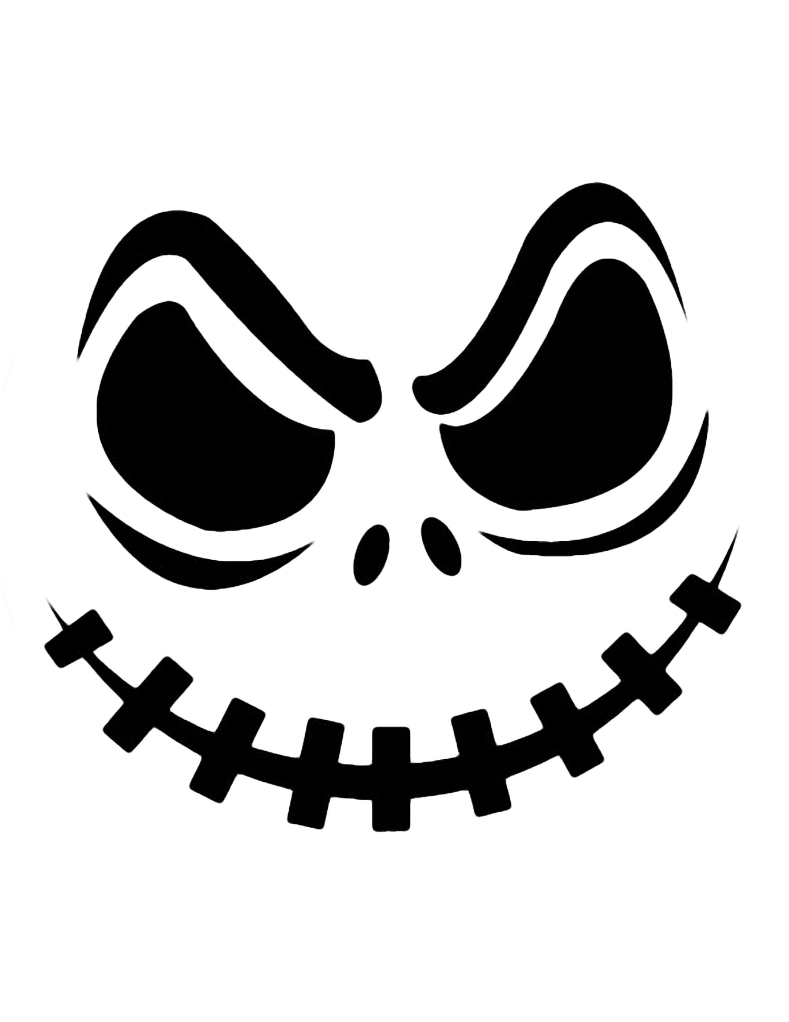Jack Skellington Pumpkin | Cricut Cutter Ideas | Halloween Pumpkin - Free Printable Scary Pumpkin Patterns