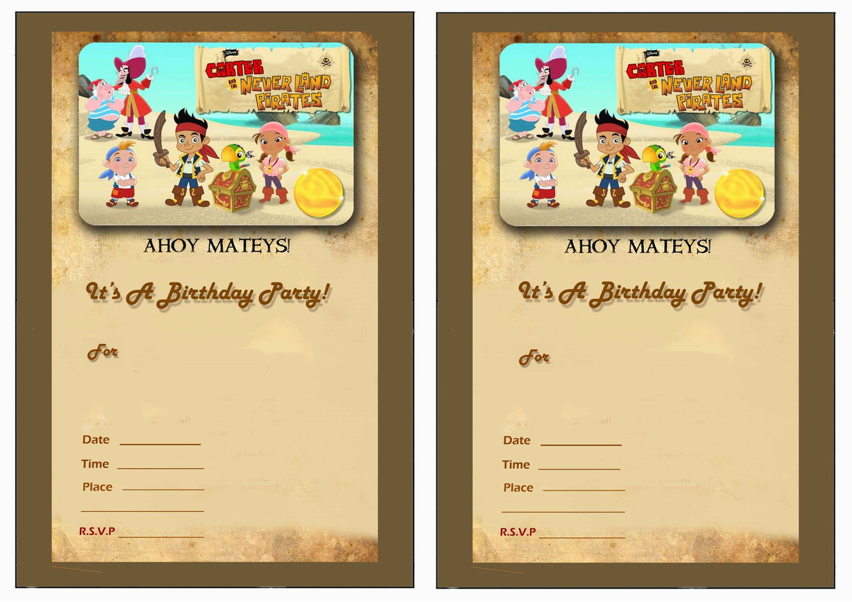 Jake And The Never Land Pirates Birthday Invitations | Birthday - Free Printable Jake And The Neverland Pirates Cupcake Toppers