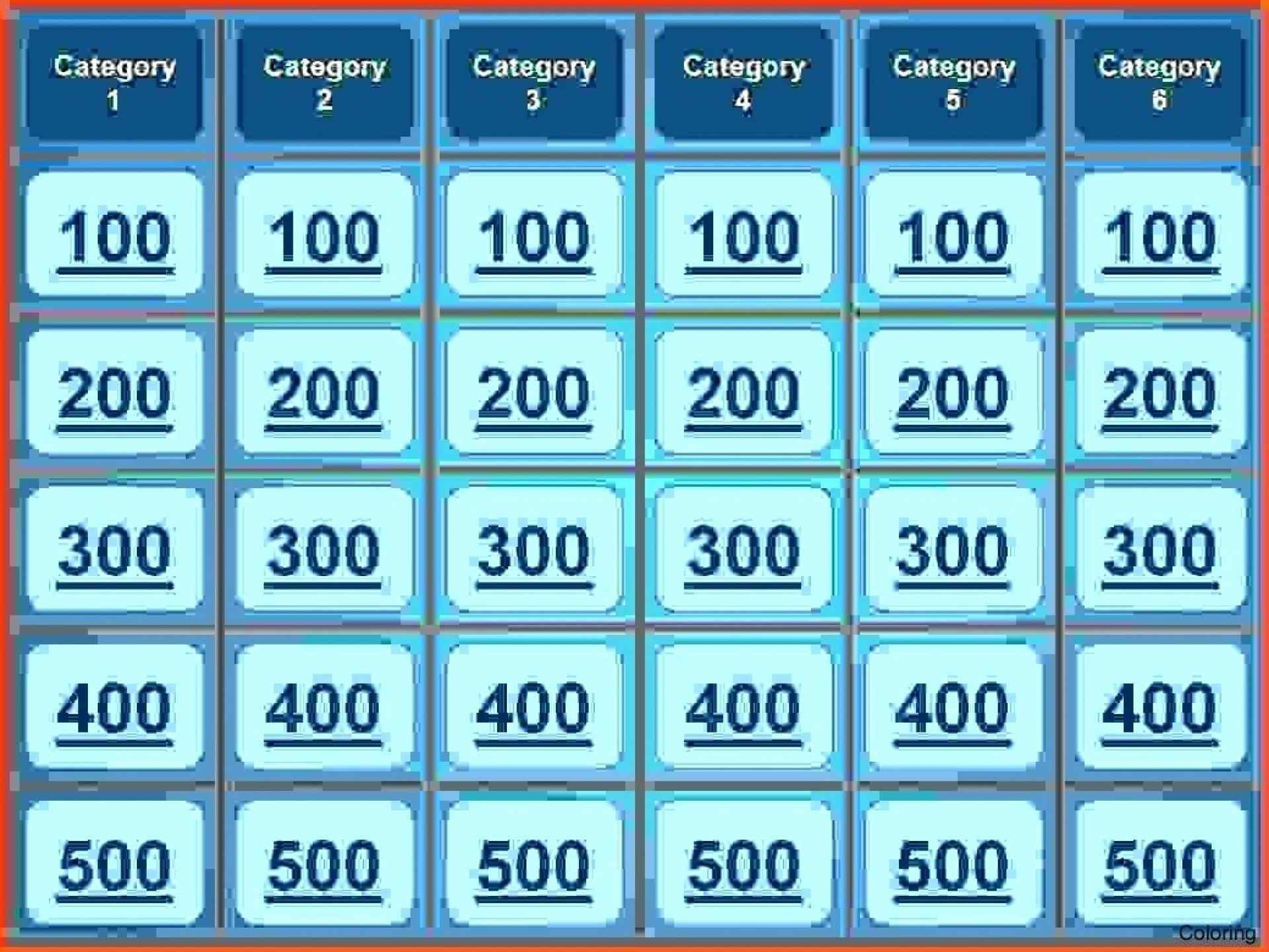 Jeopardy Board Template Fresh Free Jeopardy Template Powerpoint Free - Free Printable Jeopardy Template