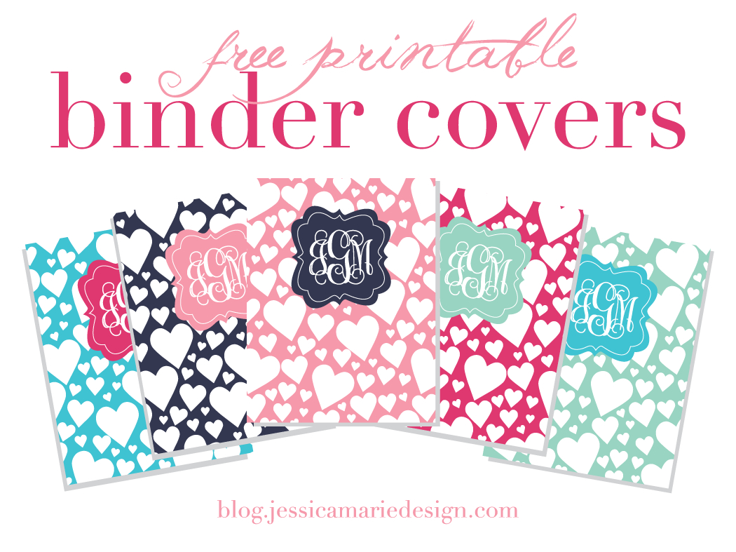 Jessica Marie Design Blog: Free Printable Binder Covers - Free Printable Binder Covers And Spines