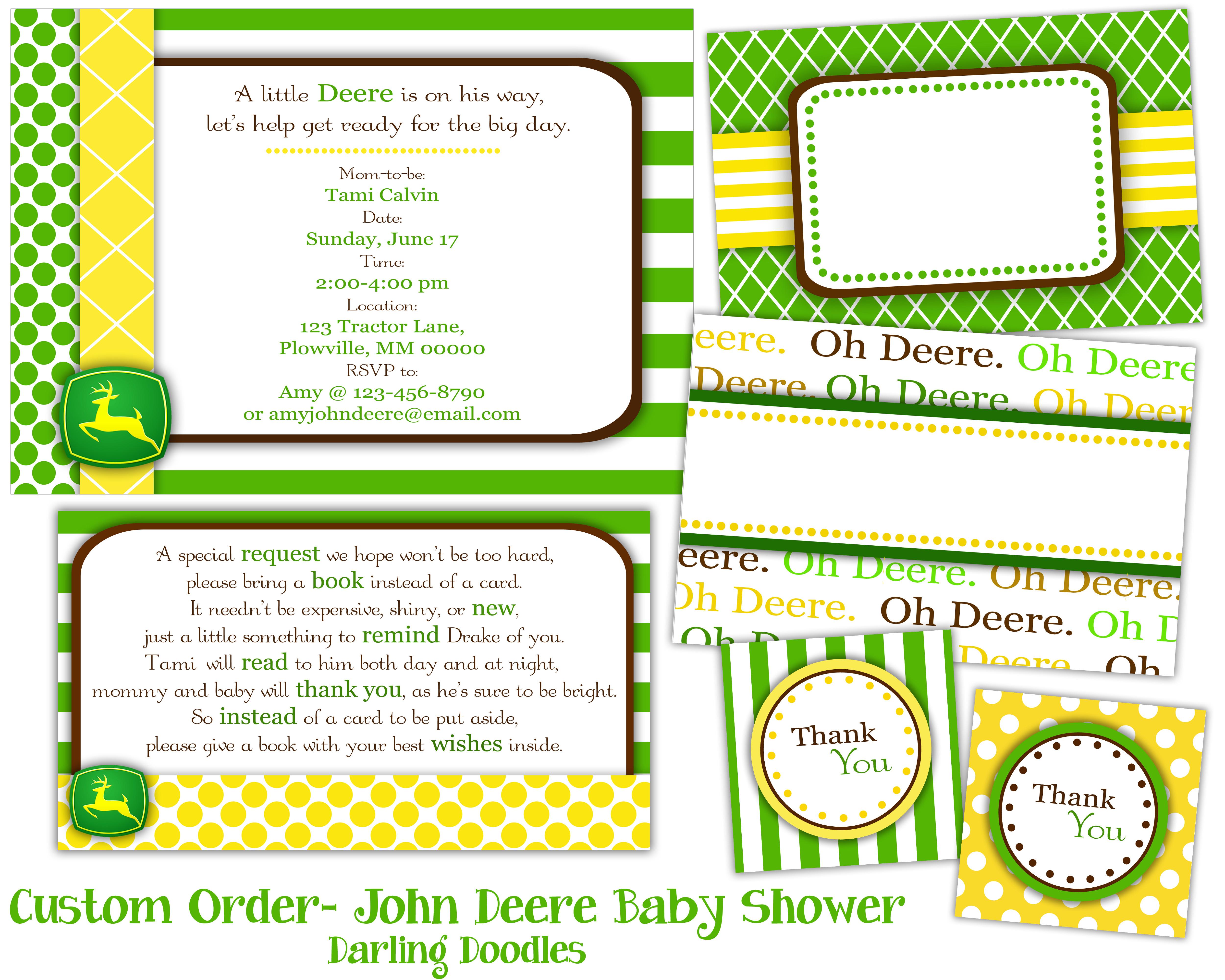 John Deere Baby Shower Invitations For Free | Shilohmidwifery - Free Printable John Deere Baby Shower Invitations