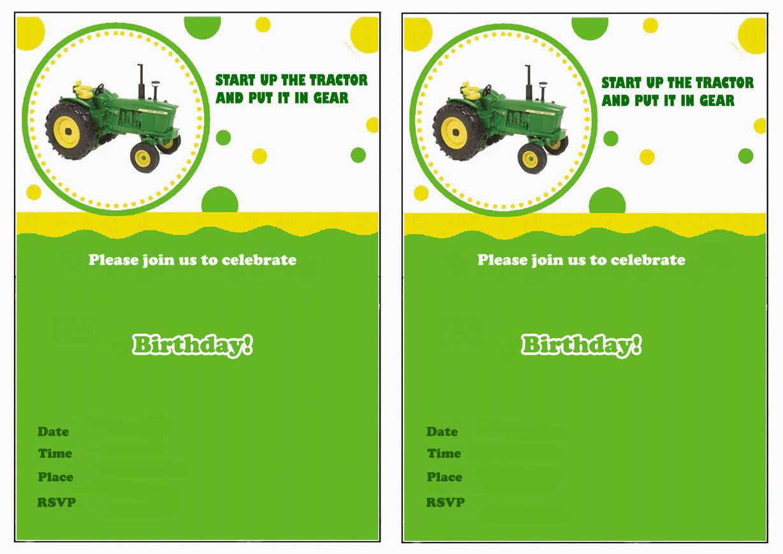 John Deere Free Printable Birthday Party Invitations   Birthday - Free Printable John Deere Food Labels