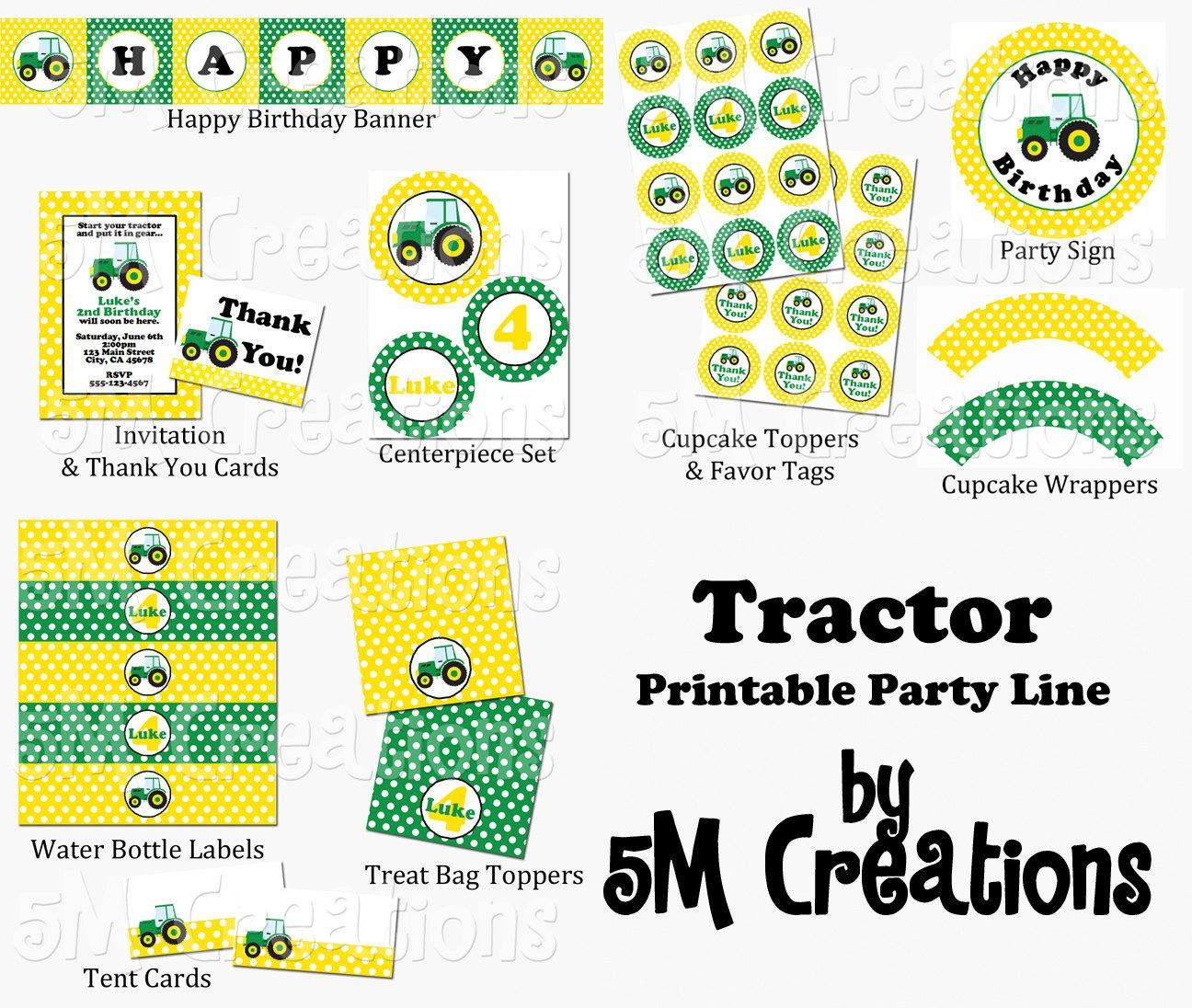 John Deere Party Packages   Tractor Party Package - John Deere - Free Printable John Deere Food Labels