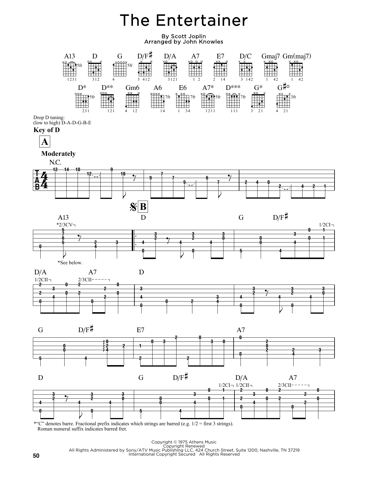 "John Knowles ""the Entertainer"" Sheet Music Notes, Chords 