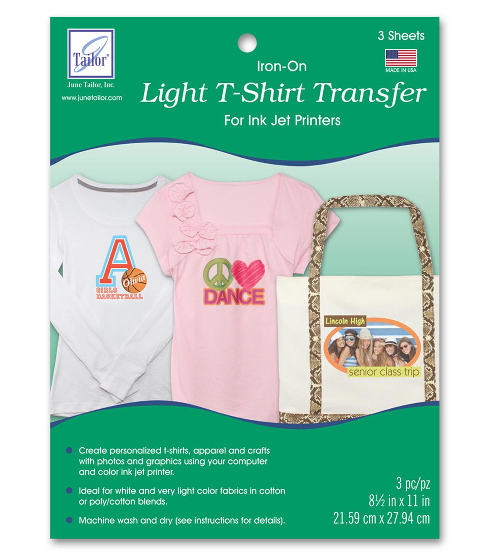 June Tailor Light T-Shirt Transfer Paper 3/pkg | Joann - Free Printable Iron On Transfers For T Shirts