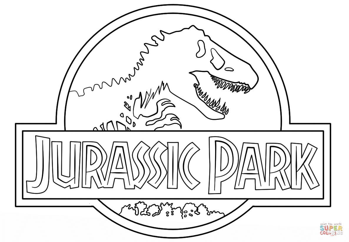 Jurassic Park Logo Coloring Page | Free Printable Coloring Pages - Free Printable South Park Coloring Pages