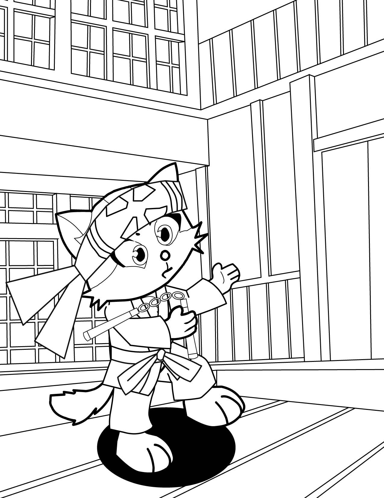 Karate Coloring Pages Free #15556 - Free Printable Karate Coloring Pages