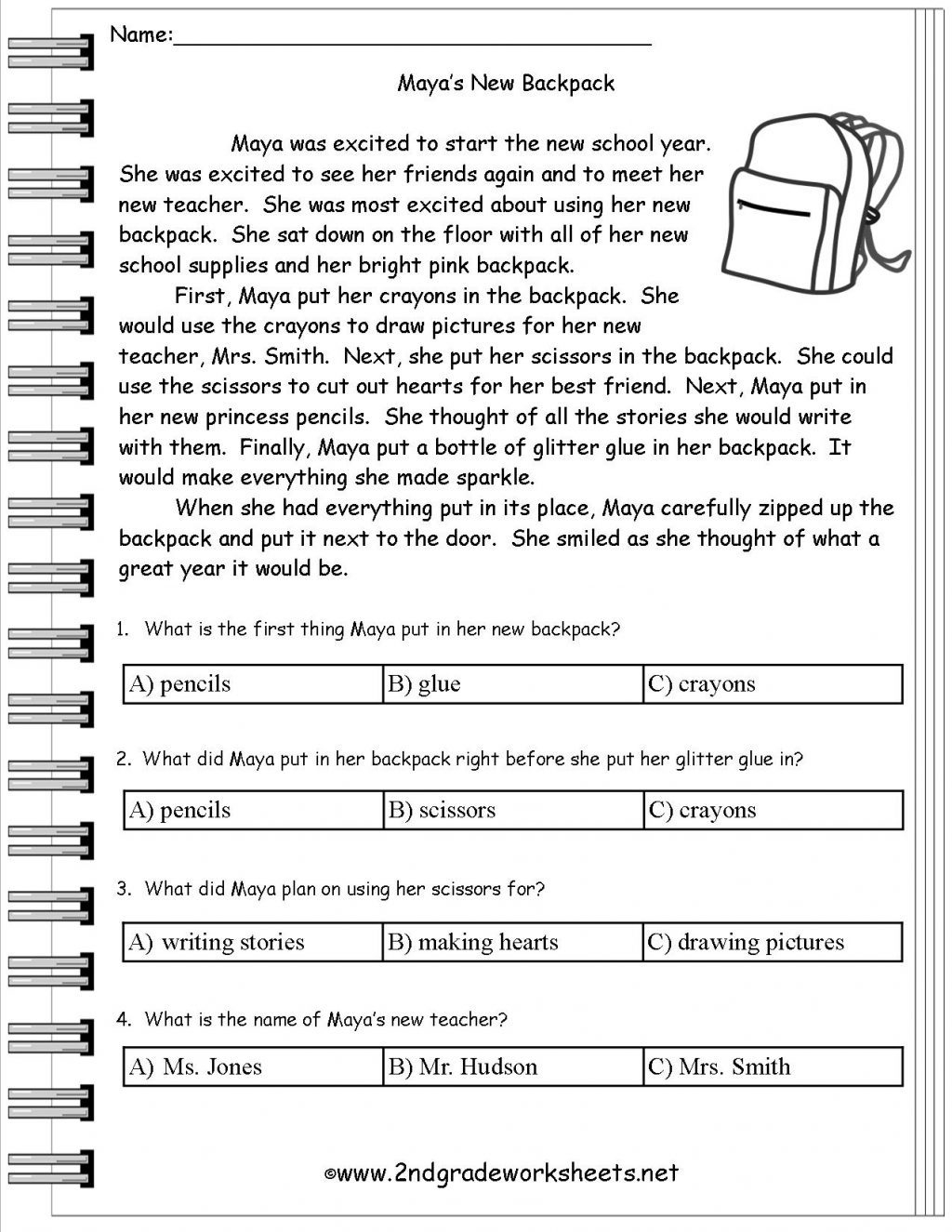 Kateho Free Printable Kindergarten Reading Comprehension Worksheets - Free Printable Reading Comprehension Worksheets For Adults