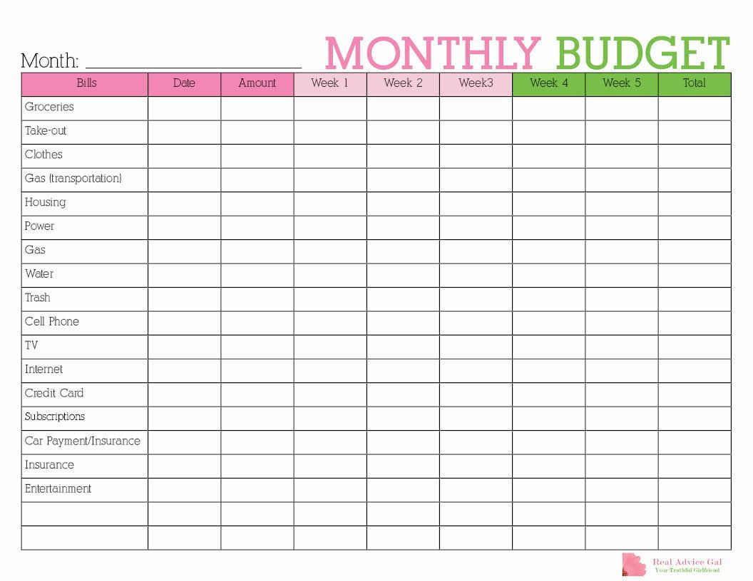 Keep Track Of Your Monthly Expenditures With This Free Printable - Free Printable Home Budget Planner