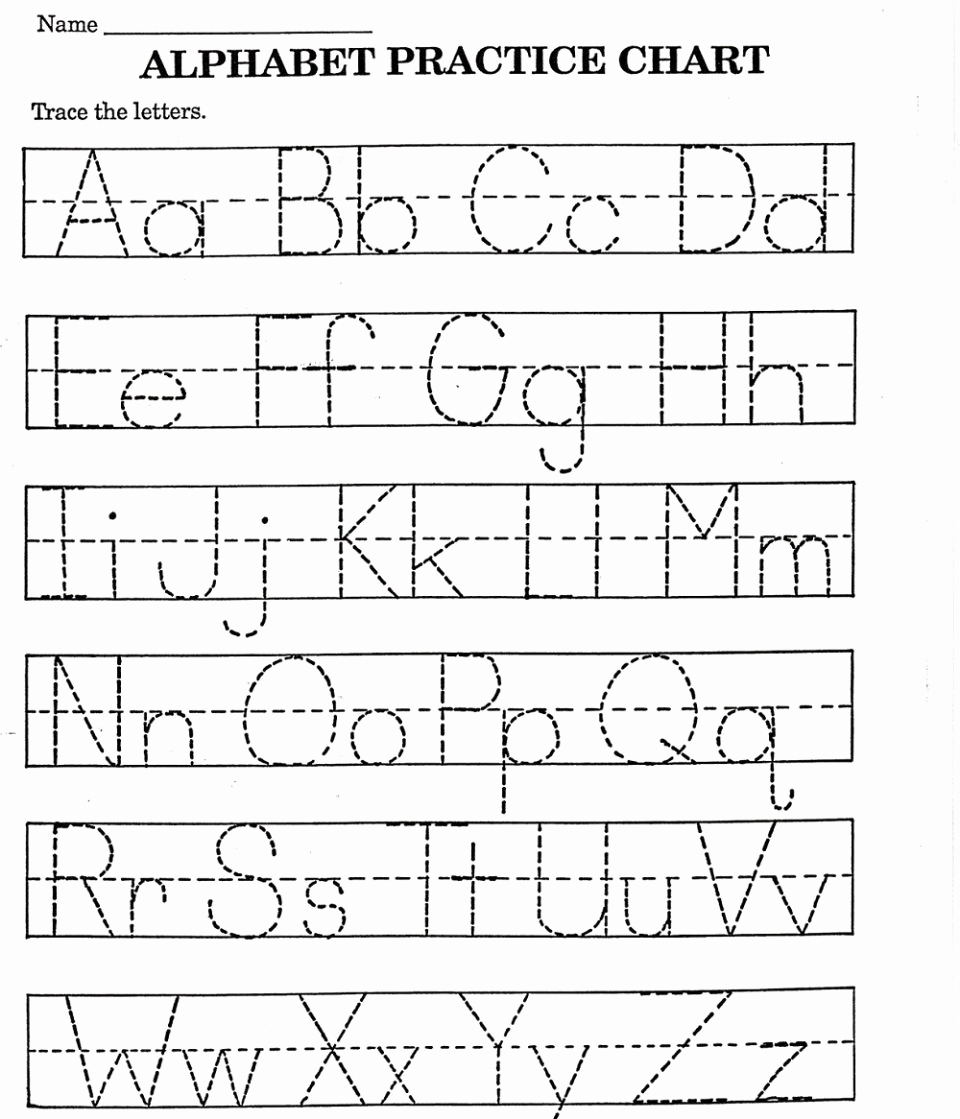 Kids Alphabet Tracing Worksheets | Printable Coloring Page For Kids - Free Printable Alphabet Tracing Worksheets For Kindergarten