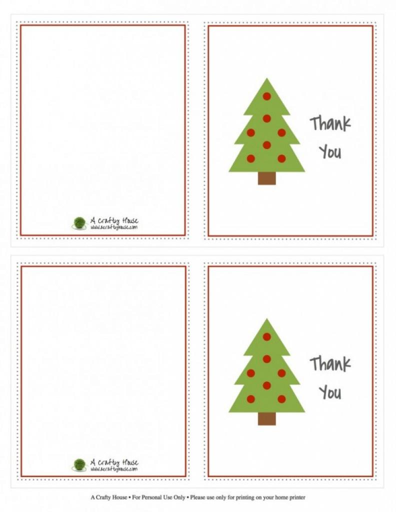 Kids Christmas Thank You Note Printables - Design Dazzle Pertaining - Free Christmas Thank You Notes Printable