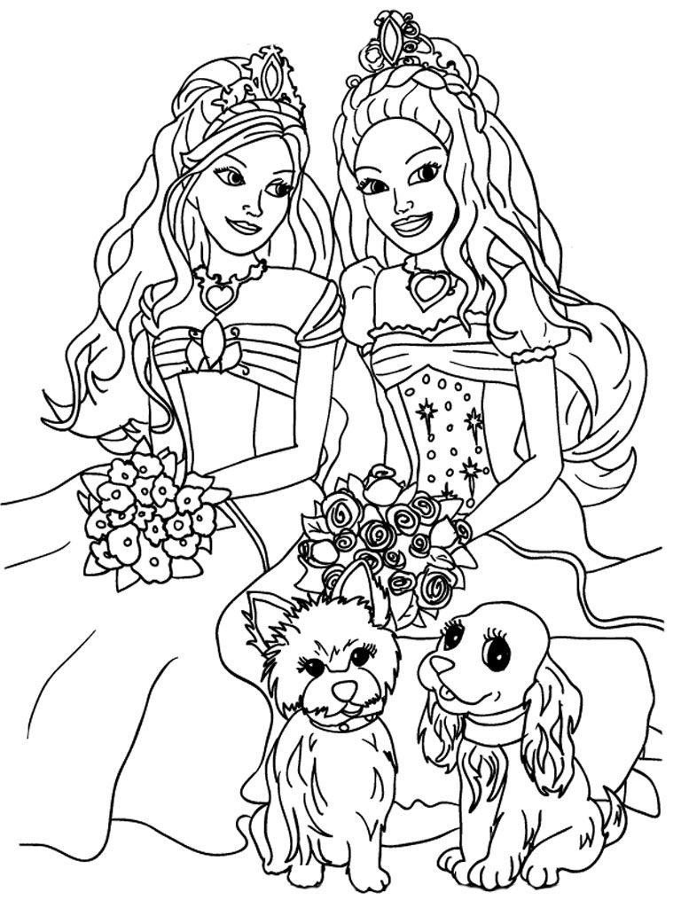 Kids Coloring Sheets | Barbie And The Diamond Castle Printable Kids - Free Printable Barbie Coloring Pages