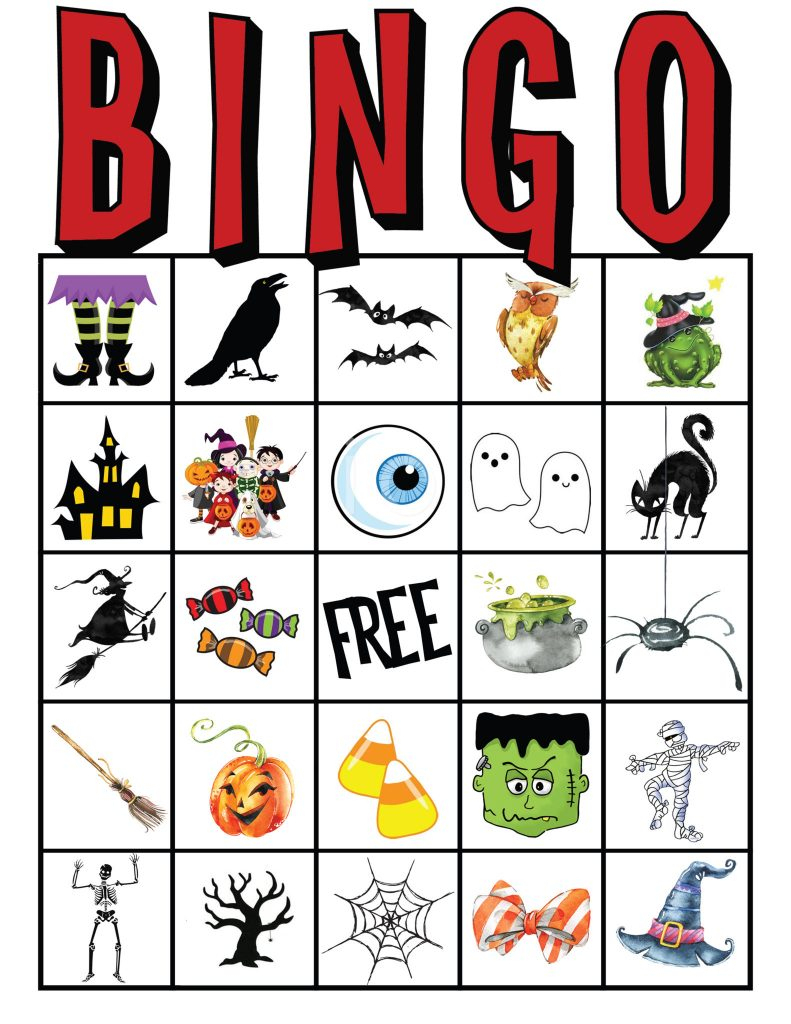 Kids Halloween Party Bingo Cards Free Printable | All Things Thrifty - Free Printable Halloween Bingo