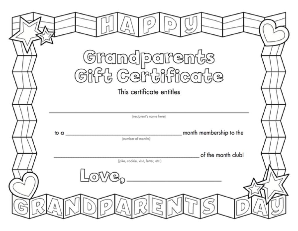 Kids Magazines - Children's Magazines & Books | Grandparent Treats - Grandparents Certificate Free Printable