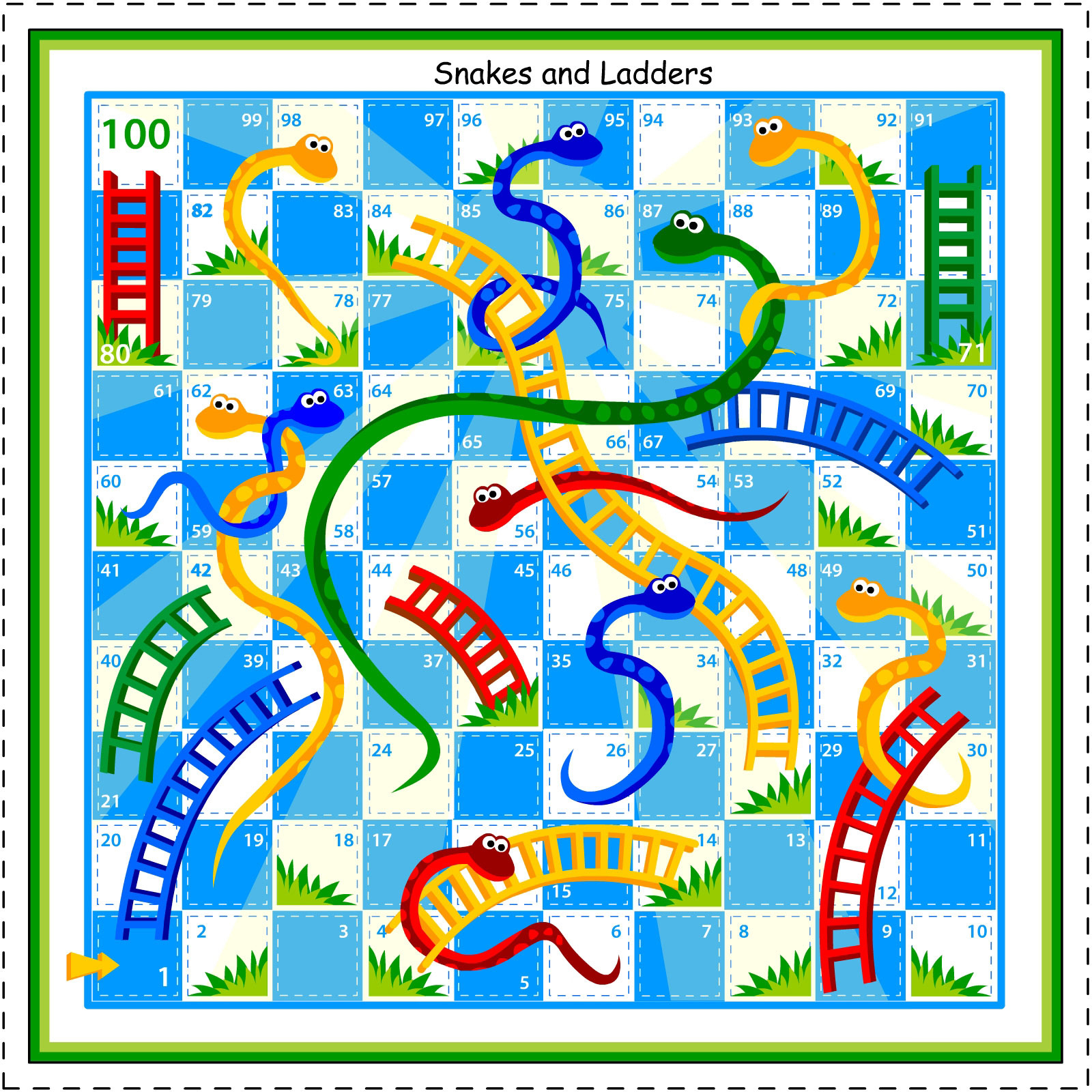 Kids Under 7: Snakes And Ladders Board Game - Free Printable Alphabet Board Games