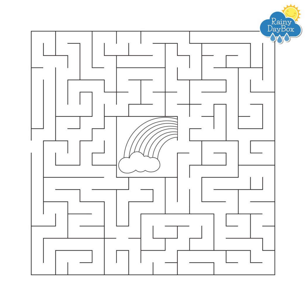 Kids Weather Free Printables - Rainy Day Box - Free Printable Mazes For Kids