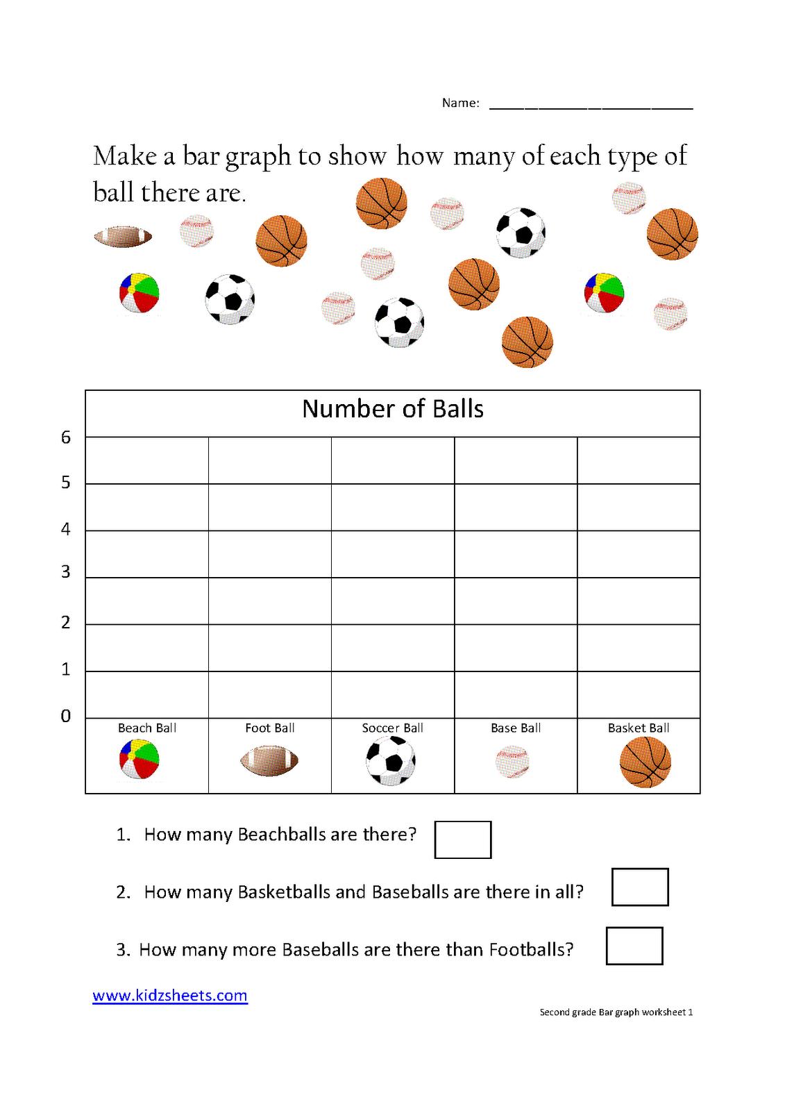 Kidz Worksheets: Second Grade Bar Graph Worksheet1 - Free Printable Bar Graph