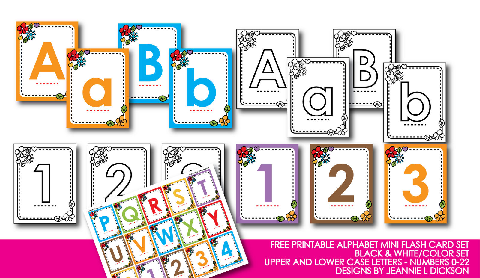 Kindergarten Alphabet Cards | Free Printable Alphabet Mini Flash - Free Printable Abc Flashcards With Pictures
