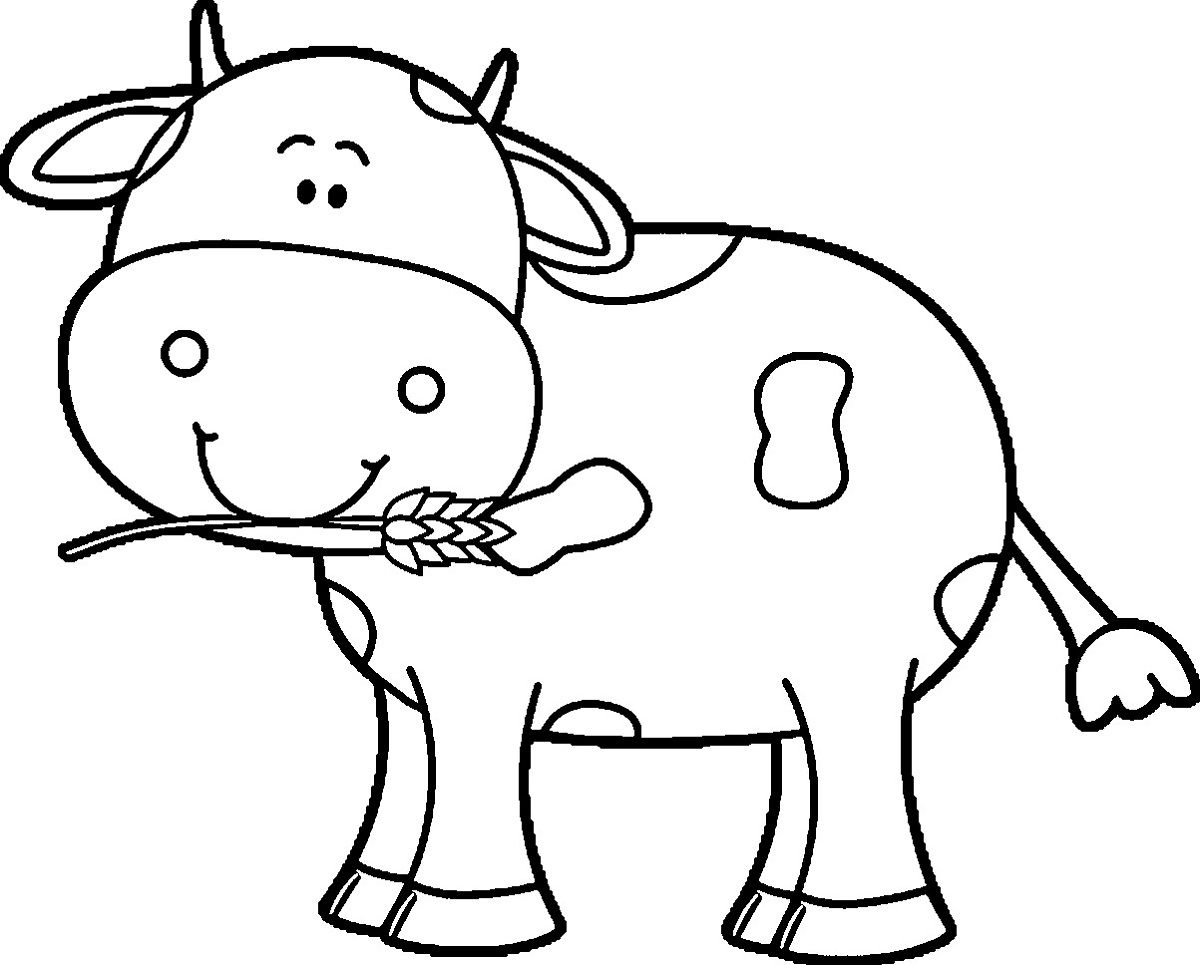 Kindergarten Coloring Pages Free Cow   Learning Printable   Coloring - Coloring Pages Of Cows Free Printable